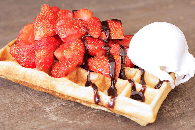 Veluws-ijs-aardbeien